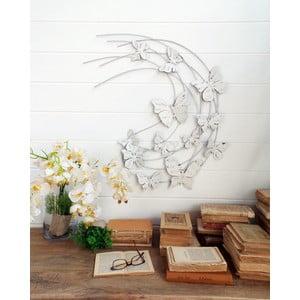 Nástěnná dekorace Butterflies Pannel White