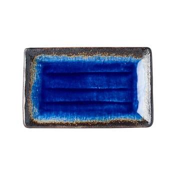 Farfurie servire din ceramică MIJ Cobalt, 21x13cm, albastru