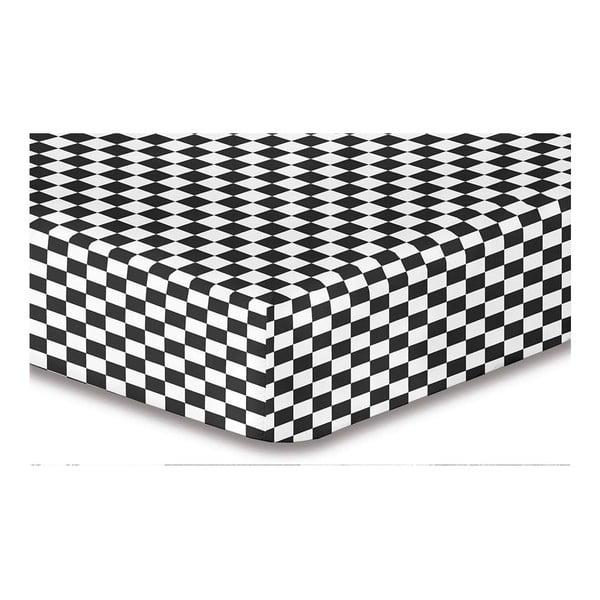 Cearșaf din microfibră cu elastic DecoKing Hypnosis Triumph Brisa, 200x220cm