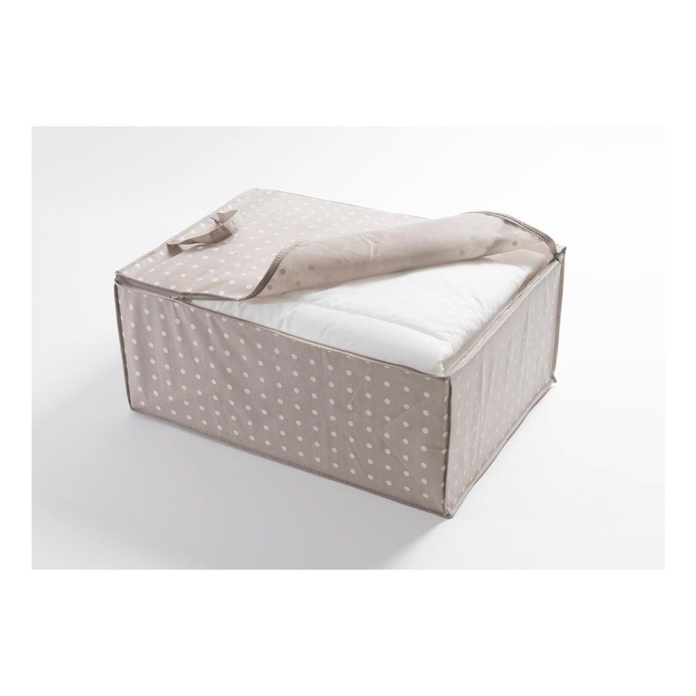 Malý béžový úložný box Compactor Dots, 50 x 70 cm