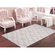 Pudrově růžový odolný koberec Vitaus Scarlett, 60x90cm