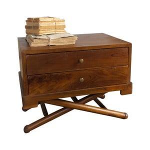 Noční stolek z teakového dřeva Orchidea Milano Safari