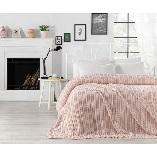 Cuvertură ușoară Camila, 220 x 240 cm, roz deschis