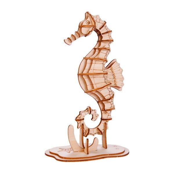 3D puzzle z balzového dreva Kikkerland Seahorse