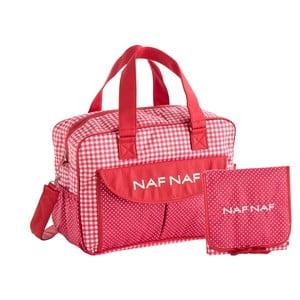 Set červené tašky na kočárek a přebalovací podložky Naf Naf Vichy