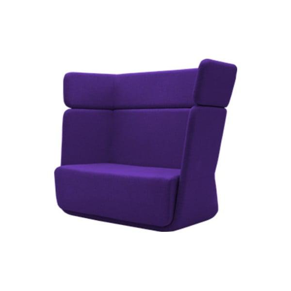 Ciemnofioletowy fotel Softline Basket Felt Dark Lilac