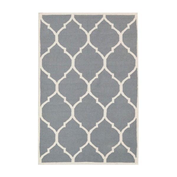 Vlněný koberec Lara, 60x90 cm, šedý