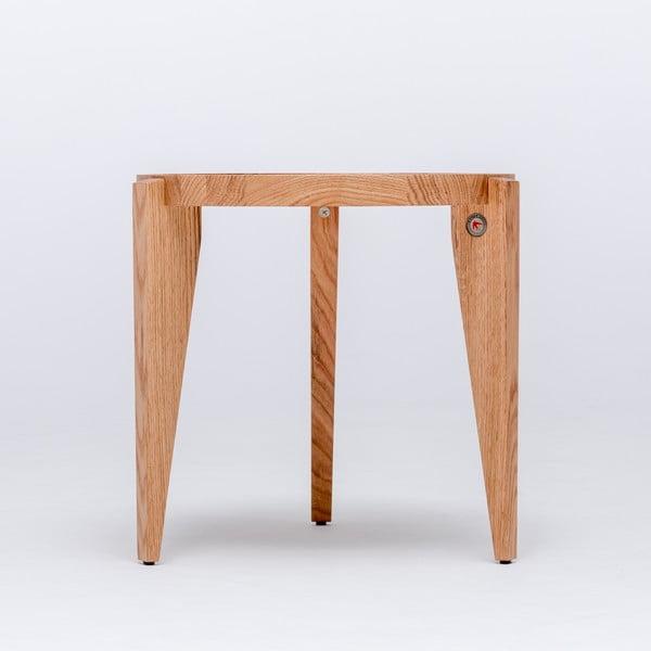 Dubový kávový stolek Bontri, 50x50 cm