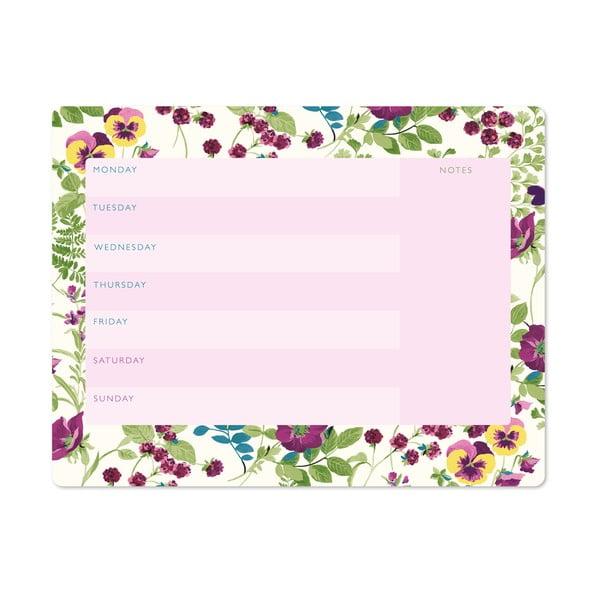 Týdenní plánovač Laura Ashley Parma Violets by Portico Designs, 54stránek