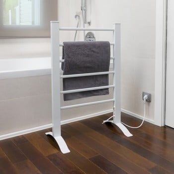 Suport electric pentru prosoape InnovaGoods Towel Rail, alb imagine