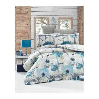 Lenjerie de pat cu cearşaf şi 2 feţe de pernă Vanessa Malo, 200 x 220 cm de la Victoria