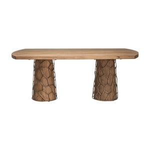 Masă din lemn de salcâm Kare Design Brass