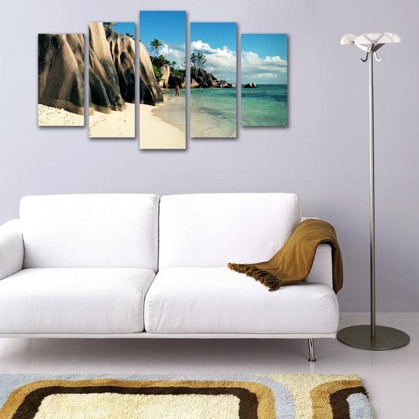 5dílný obraz Na pobřeží