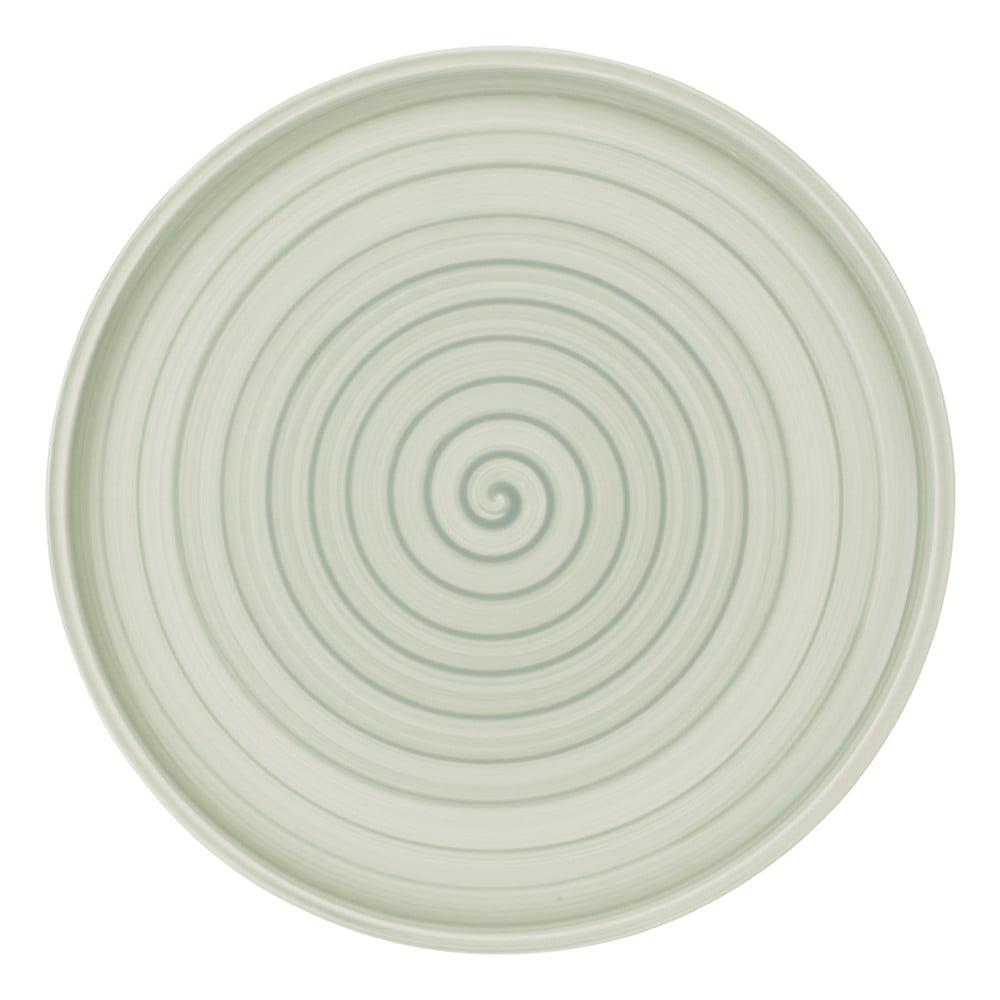 Zeleno-bílý porcelánový talíř Villeroy & Boch Artesano Nature, 32 cm