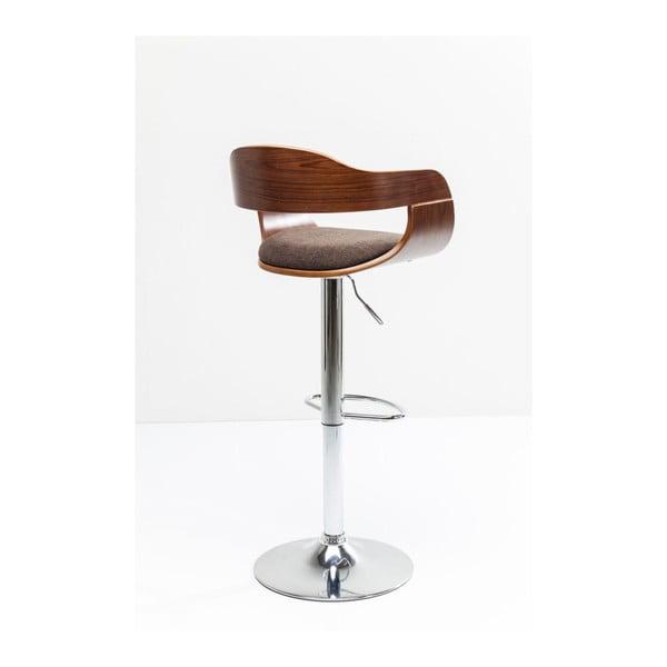 Sada 2 hnědých barových židlí Kare Design Monaco Schoko