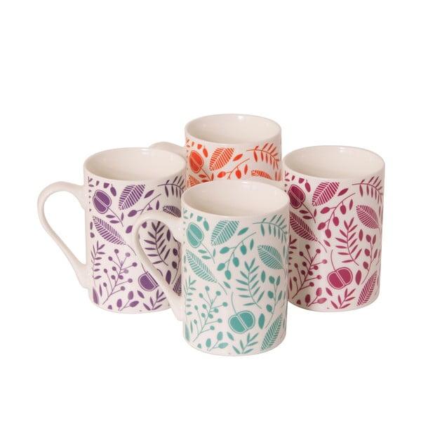 Sada 4 porcelánových hrnků Arabella