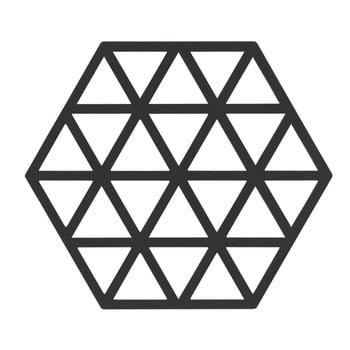 Suport din silicon pentru vase fierbinți Zone Triangles, negru imagine