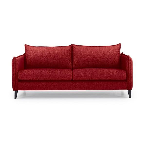 Canapea cu 3 locuri Softnord Leo, roșu