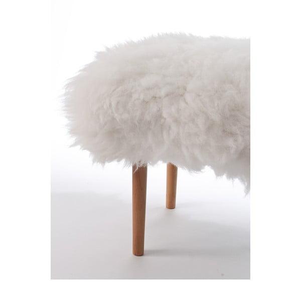 Stolička z ovčí kůže Carys Ivory