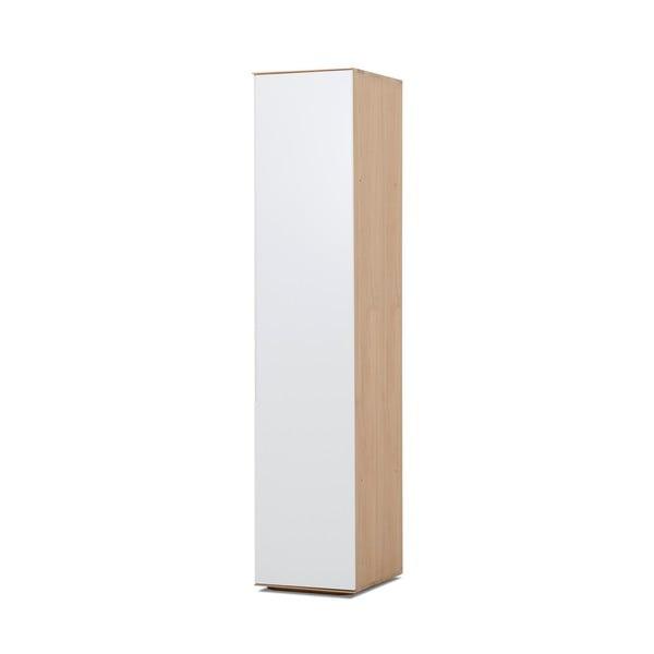 Moduł do szafy z konstrukcją z litego drewna dębowego z 5 półkami Gazzda Ena