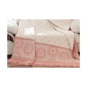 Deka s příměsí bavlny Aksu Sweety Lily, 200 x 150 cm