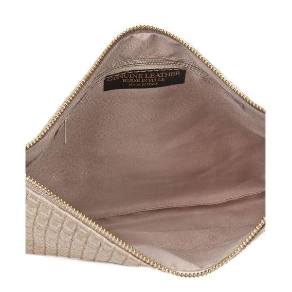 Hnědošedá kožená kabelka Markese Tryphena