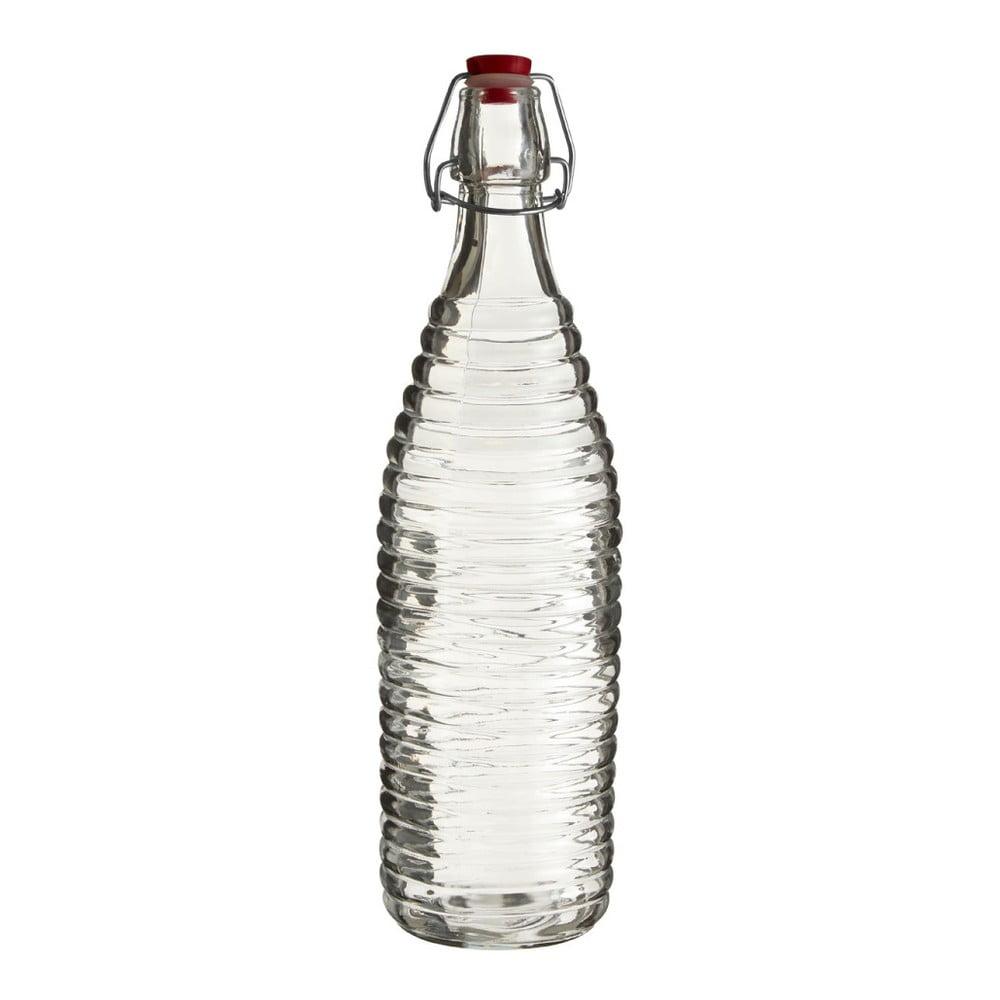 Skleněná lahev Premier Housewares Clip, výška 32 cm