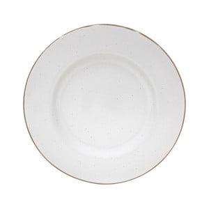 Bílý servírovací talíř z kameniny Casafina Sardegna,⌀34cm
