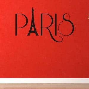 Samolepka na stěnu Paris, černá