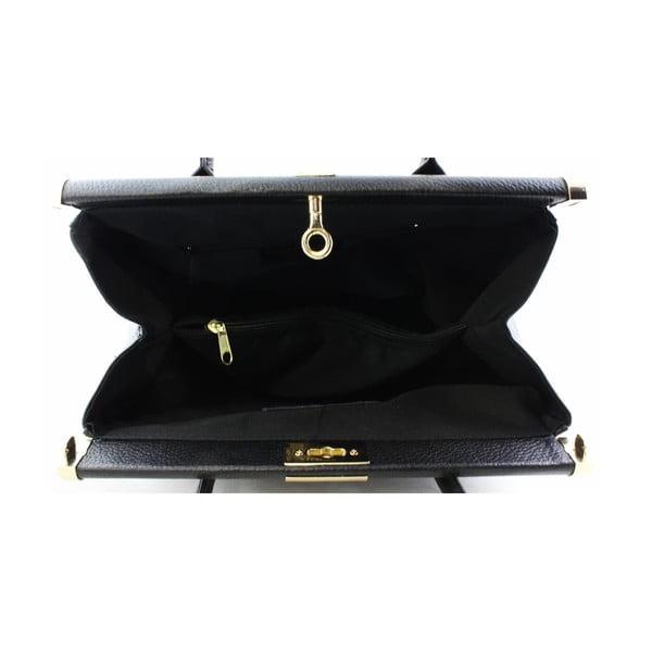 Kožená kabelka Famousa Nero