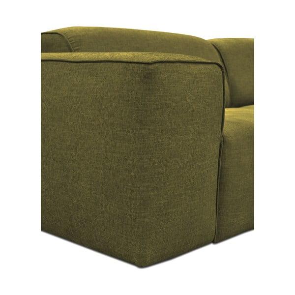 Zelená trojmístná pohovka s pufem Cosmopolitan Design Phoenix