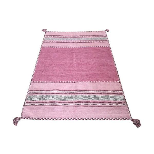 Różowy bawełniany dywan Webtappeti Antique Kilim, 160x230 cm