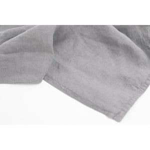 Sada 4 šedých bavlněných prostírání s příměsí lnu L'Officiel Interiors Manaus, 37 x 48 cm