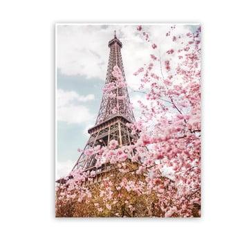 Tablou imprimat pe pânză Styler Romantic Eiffel, 100 x 75 cm poza