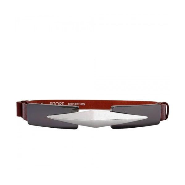 Nastavitelný kožený pásek Royc červenohnědý, 66 až 100 cm
