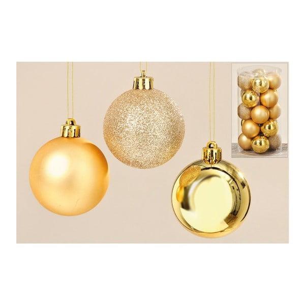 Sada 20 ks vánočních koulí Gold Balls