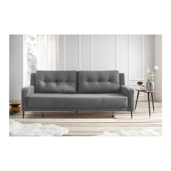 Szara sofa rozkładana Bobochic Paris Bergen