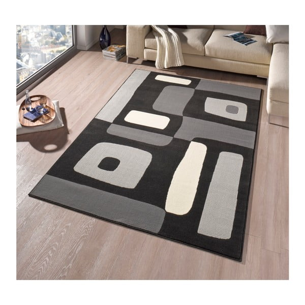 Koberec Hanse Home Hamla Will Black, 80 x 150 cm
