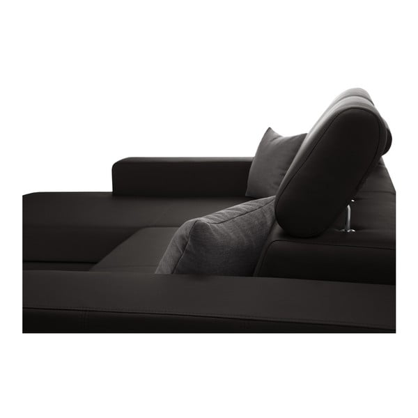 Tmavě hnědá rozkládací sedačka Interieur De Famille Paris Tresor, levý roh