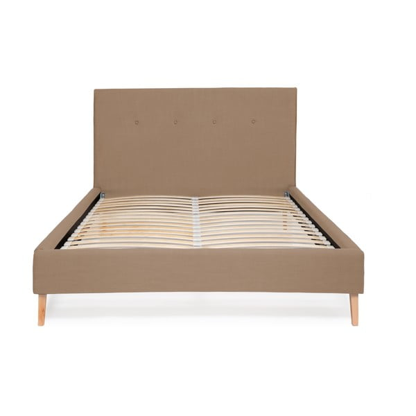 Piaskowe łóżko Vivonita Kent Linen, 200x140cm