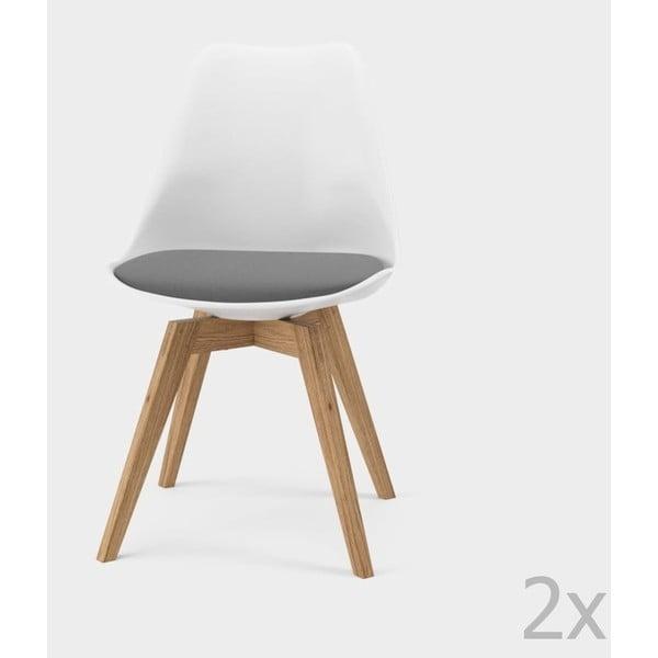 Sada 2 šedých jídelních židlí Tenzo Bess