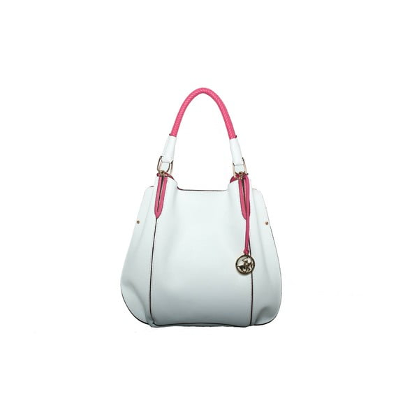 Kabelka Beverly Hills Polo Club 447 - White/Fuchsia