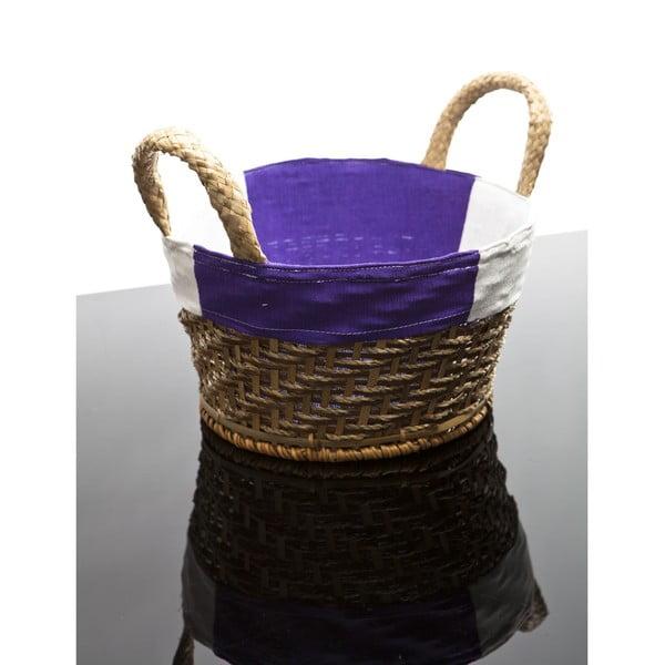 Proutěný košík Lindsey, fialový