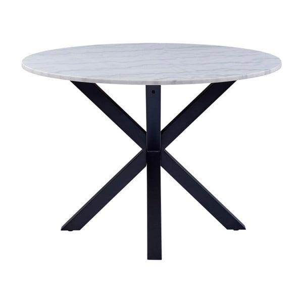 Jídelní stůl s mramorovou deskou Actona Heaven, ⌀ 110 cm