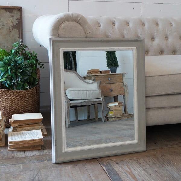 Zrcadlo White and Grey Antique, 53x63 cm