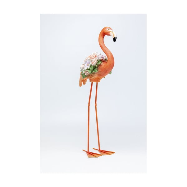 Oranžová dekorace Kare Design Flamingo, výška 75cm