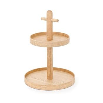 Etajeră pentru servit din lemn de stejar Wireworks imagine