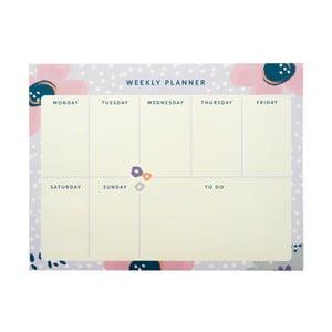 Týdenní plánovač Busy B Planner Pretty/Floral, 60 listů