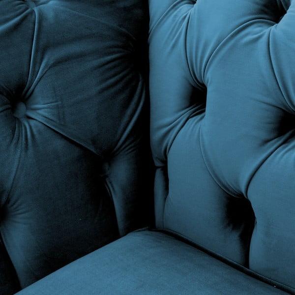 Modrá dvoumístná pohovka Vivonita Chesterfield