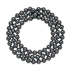 Lănțișor cu perle negru antracit Perldesse Muschel, ⌀ 8 mm, lungime 80 cm